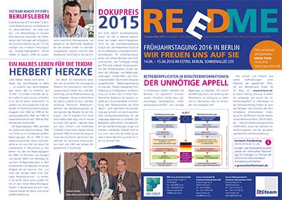 Kundenzeitschrift Reedme, Ausgabe 3/2016