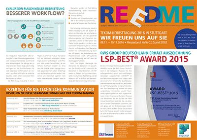 Kundenzeitschrift Reedme, Ausgabe 10/2016
