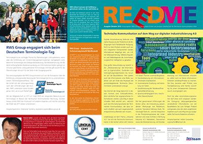 Kundenzeitschrift Reedme, Ausgabe 10/2015