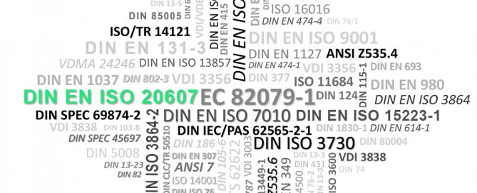 Normen-Richtlinien DIN EN ISO 20607