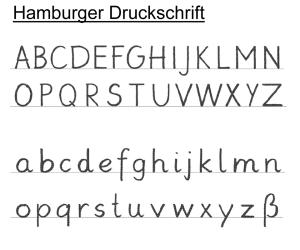 Hamburger Druckschrift ab 2011