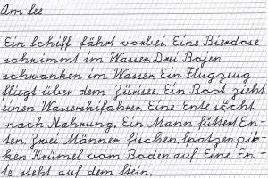 """Verbundene Schweizer Schulschrift (""""Schnürlischrift"""")"""