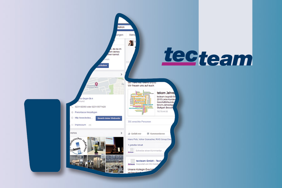 tecteam GmbH Facebook Daumen