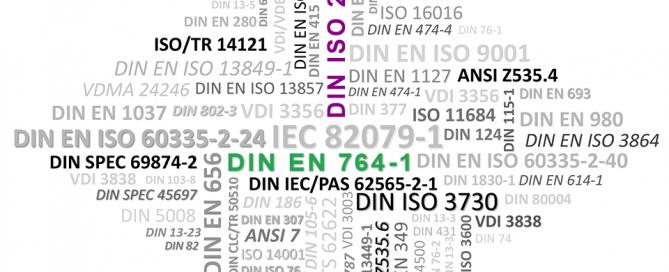 Normen und Richtlinien - DIN EN 764-1, DIN ISO 26162