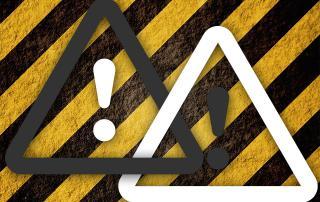 Warnhinweis mit normgerechter Symbolik
