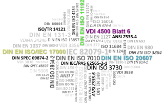 Normen und Richtlinien Technische Dokumentation DIN EN ISO/IEC 17000, DIN EN ISO 11192, VDI 4500 Blatt 6, DIN EN ISO 20607