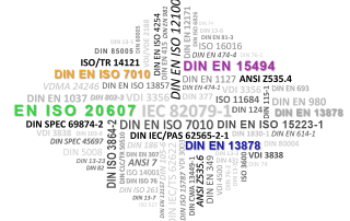 Normen und Richtlinien Technische Dokumentation EN ISO 20607, DIN EN ISO 7010, DIN EN 15494, DIN EN 13978