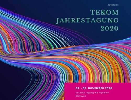 """Rückblick zum digitalen Event """"tekom-Jahrestagung 2020"""""""
