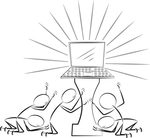 Computer anbeten